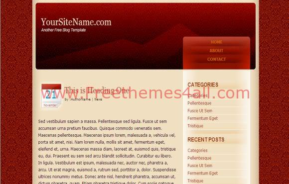 Free CSS Red Arts Carpet Web2.0 Template