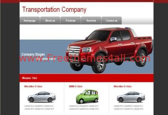 Free Web Template For Transportation company