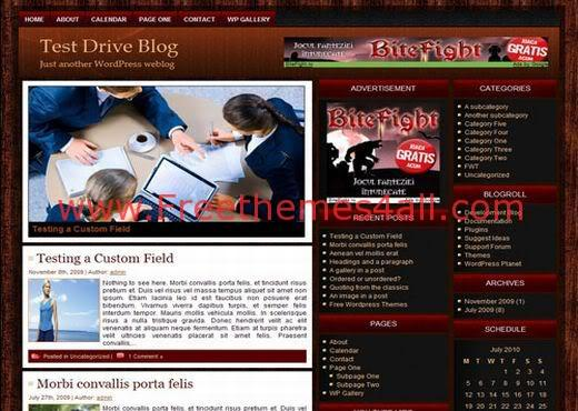 Free WordPress Bury Red Black Magazine Theme