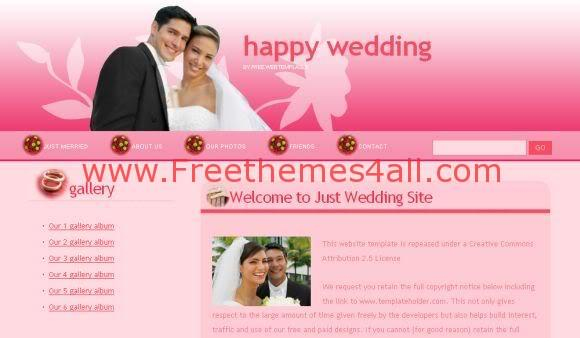 Abstract Wedding Dark Pink Website Template