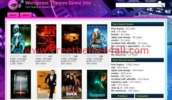 Free Streaming Movies Videos Wordpress Theme