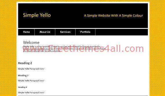 Free Yellow Black White HTML Website Template
