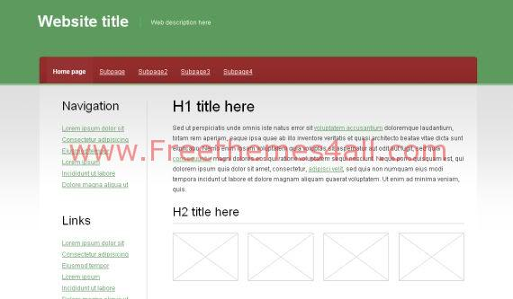 Free CSS Freshness Green White Website Template