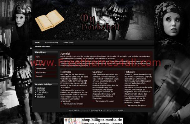 Free Joomla Fantasy Vintage Black Theme Template