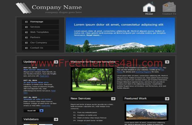 Dark Black Jquery Business CSS Website Template