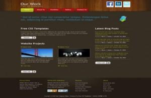 Wooden Dark Free CSS Template