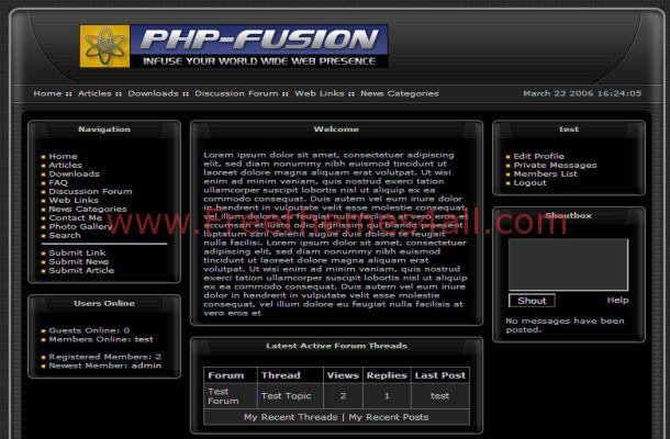 Dark Abstract Black Free Php-fusion Theme