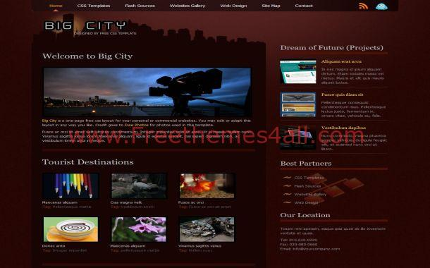 Free HTML Red Brown Business CSS Web Template