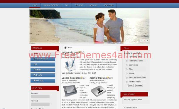 Free Jquery Dating Joomla Theme Template