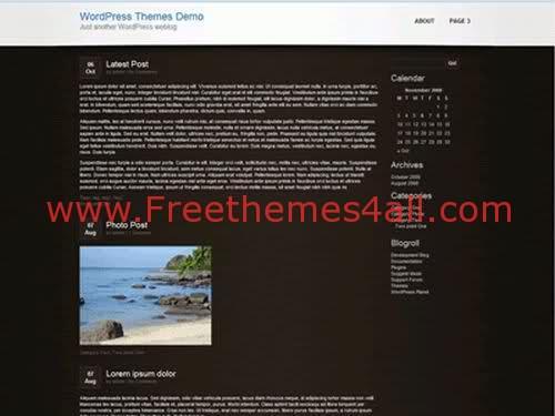 Free WordPress Black Beach Travel Theme