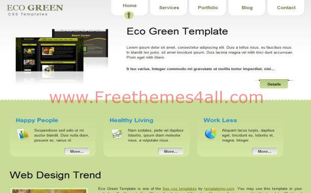 Eco Green Grunge Free CSS HTML Website Template