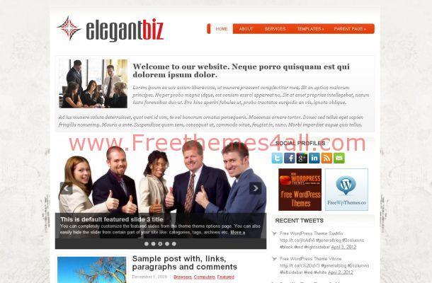 Free WordPress Elegant Business Theme Template