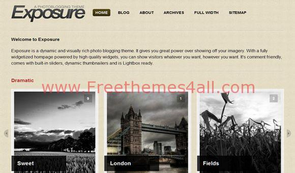 Free WordPress Photos Exposition Theme Template