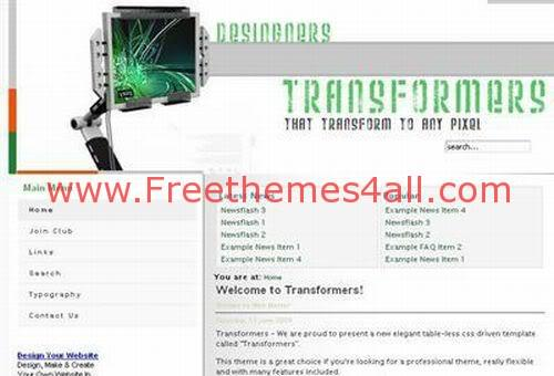 Free Joomla Hosting Company Web2.0 Theme Template