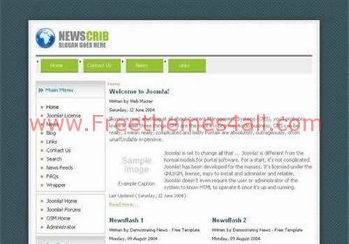 Free Joomla News Digg Clone Web2.0 Theme Template