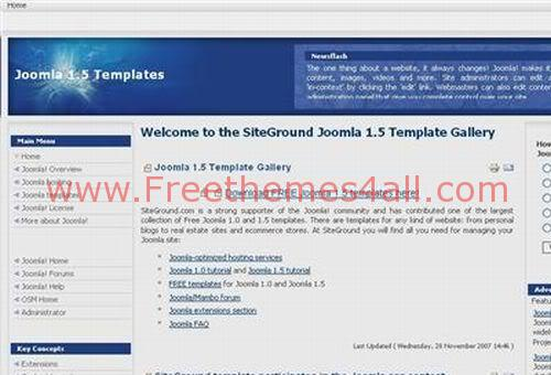 Free Joomla Bleu Ice White Web2.0 Theme Template