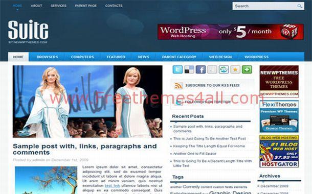 Fashion Wordpress Theme Download