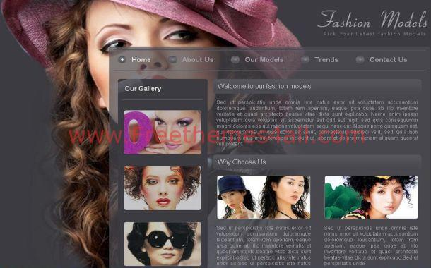 Free Sexy Fashion Models CSS Website Template