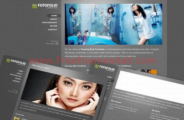 Fashion Portfolio Gallery WordPress Theme Template