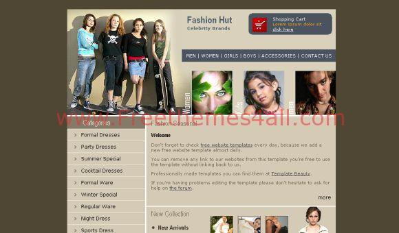 Celebrity Brand Fashion Website Template