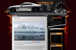 Red Brown Car Blogger Template