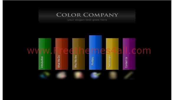 Free Flash Colors Company Black Web2.0 Template