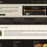 Black Brown CSS Website Template