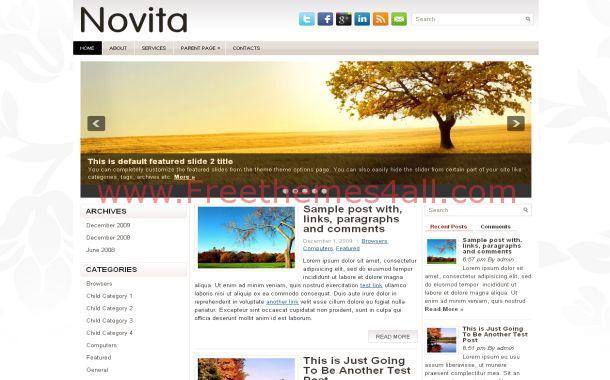 Floral Grunge Jquery Free WordPress Theme Template