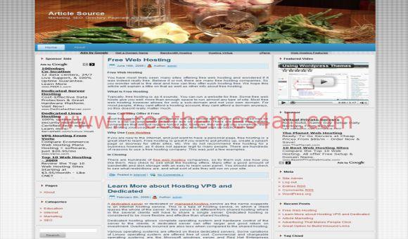 Free Ingredients Restaurant Food WordPress Theme