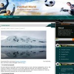 Soccer Football Free Blogger Theme