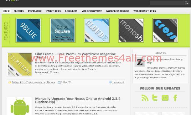 Free Premium Green Gray WordPress Theme
