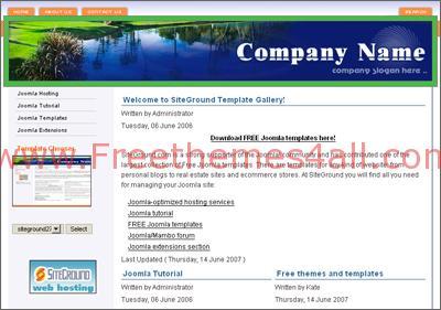 Free Joomla Lake Company Web2.0 Theme Template