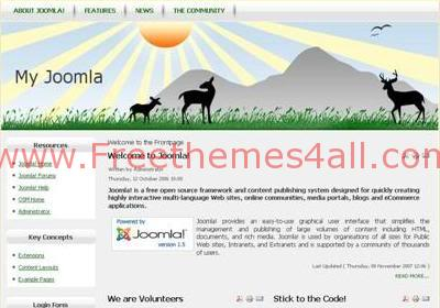 Free Joomla Green Field Nature Web2.0 Template