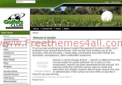 Free Joomla Golfer Sport Club Web2.0 Template