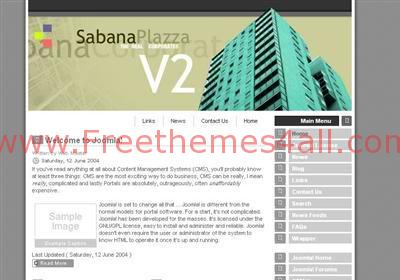Free Joomla Business Building Grey Web2.0 Template