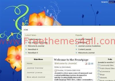 Free Joomla Art Design Flowers Web2.0 Theme Template