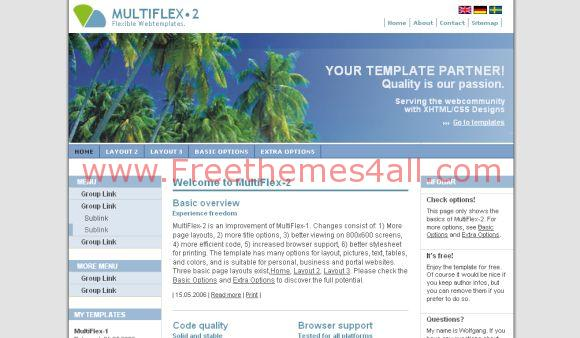 Free Full Website Template Portal Theme Template