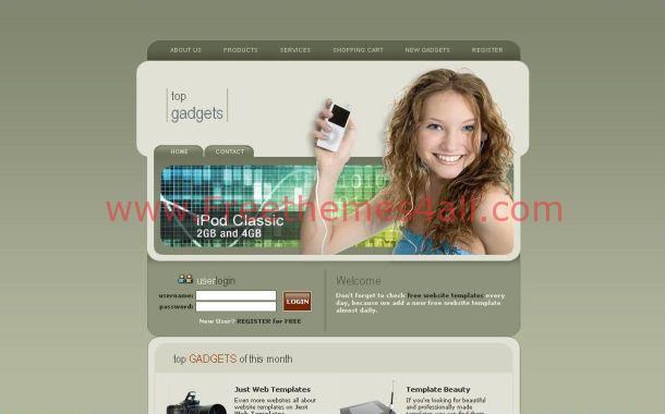 Free Technology Gadgets Store CSS Website Template