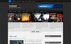 Grunge Jquery Games Black Wordpress Theme