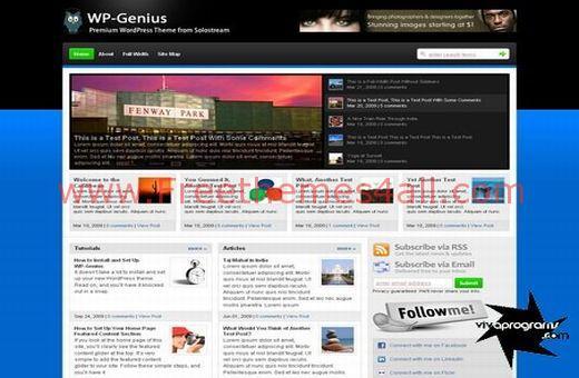 Free WordPress Magazine Stream Theme Template