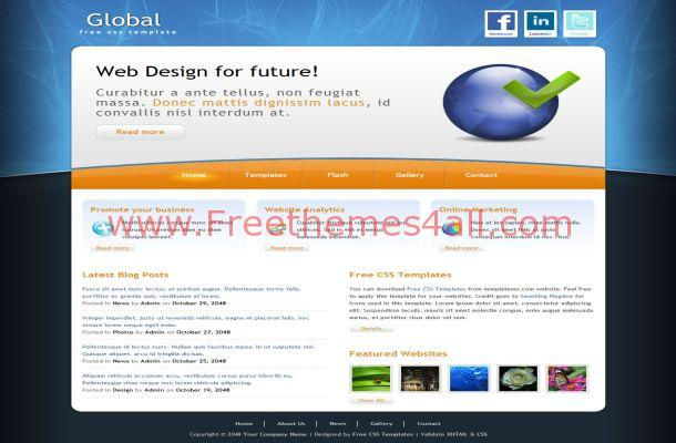 Abstract Small Business CSS Template