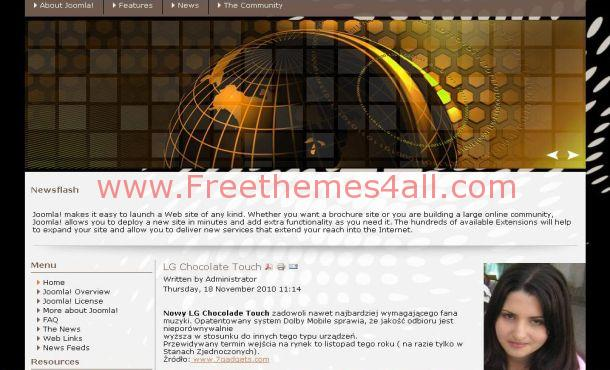 Free Golden Black Business Joomla Theme Template