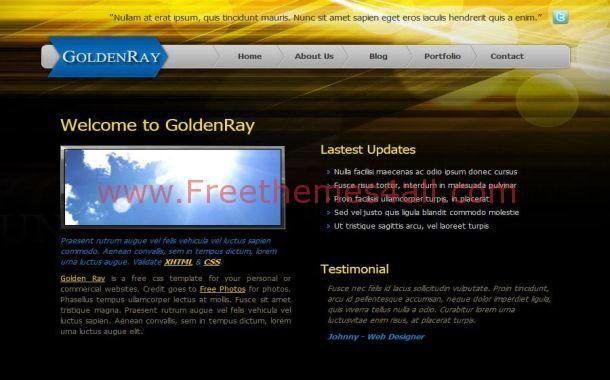 Free CSS Golden Black Business Website Template