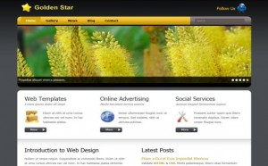 Yellow Gold Gray Nature CSS Template