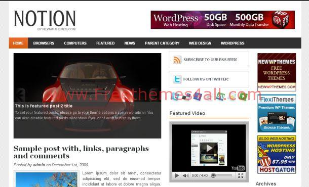 Free Gray Business Magazine WordPress Theme