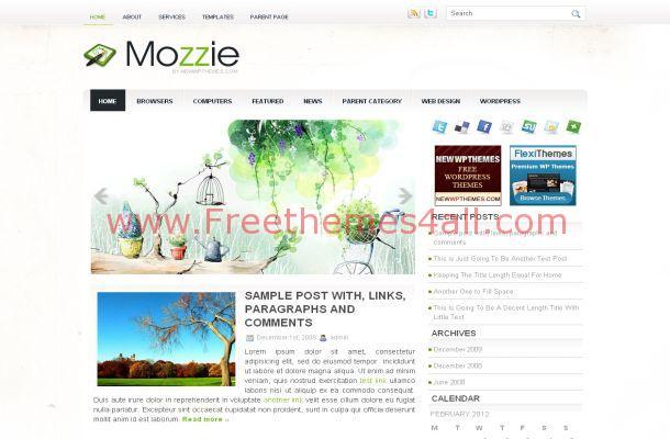 Free Business Wordpress Green Theme