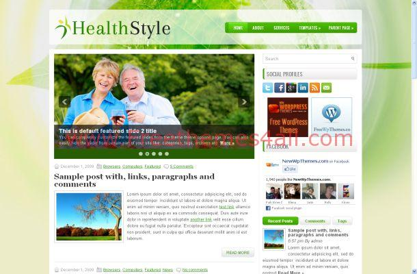 Diet Green Health Free WordPress Theme