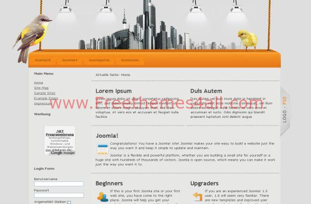 Orange Business Joomla Theme