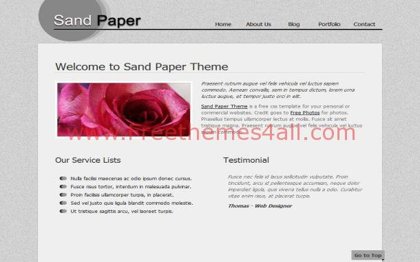 Paper Textured CSS Website Template