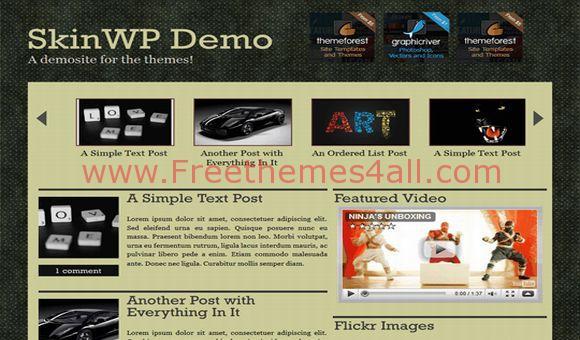 Free WordPress Premium Magazine Grunge Theme